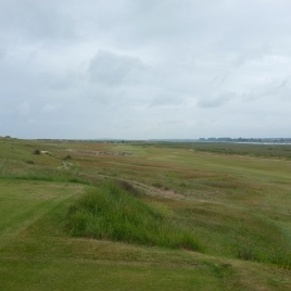 The view from the 2nd tee. The ideal line is over the right edge of the large bunker set into the left-hand side of the fairway. This will leave you with a better view of the green and an easier approach.