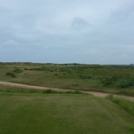 The view from the 3rd tee. This short par four dog-legs left to right, with out-of-bounds hugging the right-hand side of the hole for it's entire length.