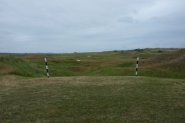 The view from the fairway side of the 'goal posts' looking back down towards the 5th tees.