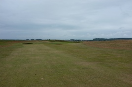 The view from the 5th fairway further along, showing three of the five bunkers sited short of the green.