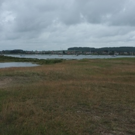 The view from the 9th fairway - looking to the south-east across the inlet to Brancaster Staithe and Burnham Deepdale beyond.