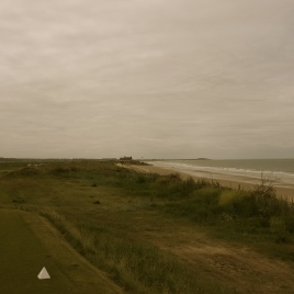 Sited directly on top of the foredune, the 17th tee affords a panoramic view of the penultimate hole, clubhouse, beach and ocean beyond.