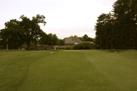 The view from the 18th fairway showing the last third of the hole.