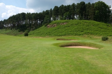 The view of the 2nd green from the fairway.