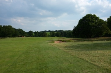 The view from the right-hand rough of the 14th hole.