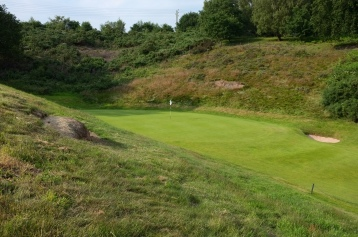 The same view of the 15th green from the left-hand rough, taken a little closer to the putting surface.