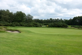 The view of the 1st green from the left-hand side.