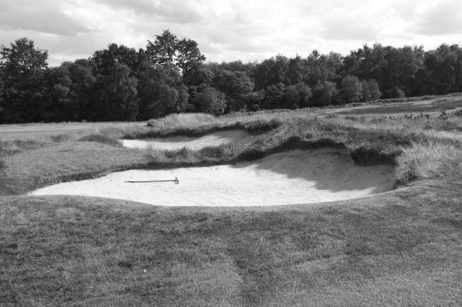 Bunkers such as this pair on the par four 4th blend seamlessly with their surrounds.