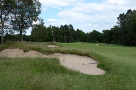 The view from the left-hand rough on the 6th hole.