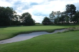 The view of the 10th green from the right-hand side.