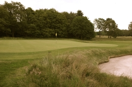 The view of the 14th green from the left-hand side.