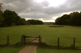 The view of the 17th fairway from the road.
