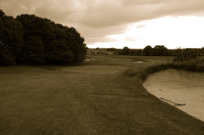 A view of the 17th green.