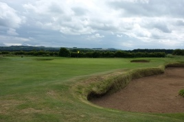 The view of the approach to the 3rd green from the right-hand side of the fairway.