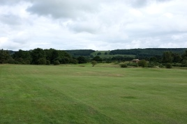 The view from the left-hand side of the 4th fairway.