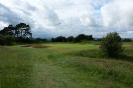 The view of the approach to the 5th green.