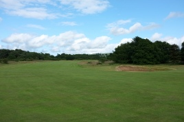 The view from the 7th fairway at the landing area.