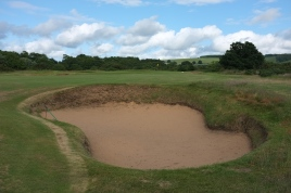 The view of the approach to the 7th green from the right-hand side.