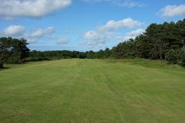 The view from the 9th fairway approaching the first landing area.