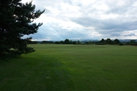 The view from the left-hand side of the 13th fairway at the first landing area.