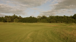 The view of the approach to the 15th green.