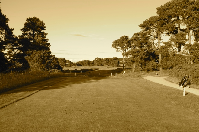 The view form the tee at the par 3 / 4 17th.