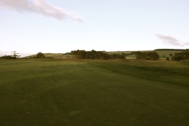 The view from the 18th fairway looking back towards the tee.