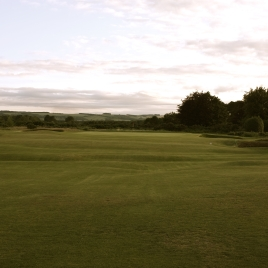 The view from the 18th fairway - from just past of the road crossing.